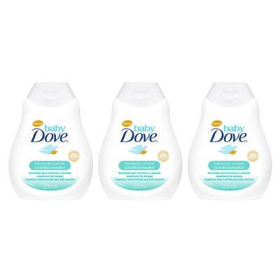 Imagem 1 do produto Kit Condicionador Dove Baby Hidratação Sensível 200ml 3 Unidades