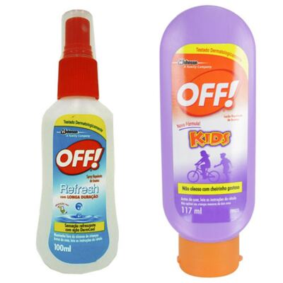 Imagem 1 do produto Repelente Off Kids 117ml + Repelente Off Family Fresh Spray 100ml