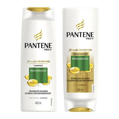 Kit Pantene Restauração Shampoo 400ml + Condicionador 400ml