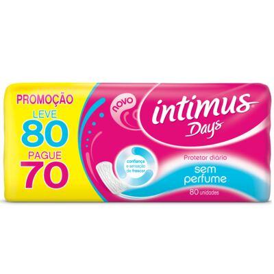 Imagem 2 do produto Absorvente Intimus Days Sem Perfume - Leve 80 Pague 70 + Sabonete Líquido Íntimus Gel 200ml