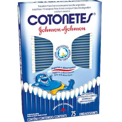 Cotonetes Johnson's 75 Unidades