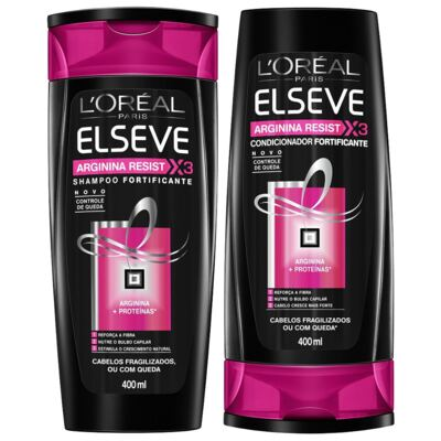 Kit Elseve Arginna Resist Shampoo 400ml + Condicionador 400ml