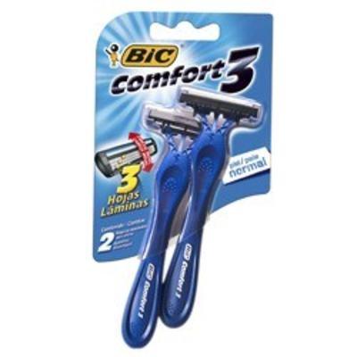 Aparelho de Barbear Bic Comfort 3 Pele Normal 2 Unidades
