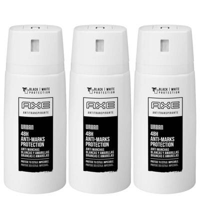 Imagem 1 do produto Kit Desodorante Aerosol Axe Urban Antimanchas Masculino 90g 3 Unidades
