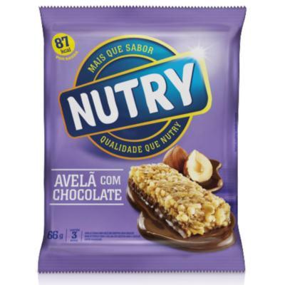Barra de Cereal Nutry Light Avelã com Chocolate 22g 3 Unidades