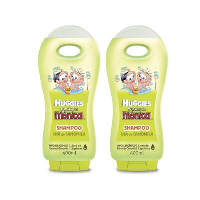Shampoo Turma da Mônica Chá de Camomila 400ml 2 Unidades
