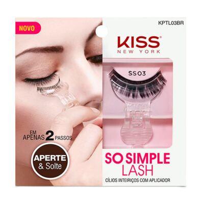 Imagem 1 do produto Cílios Postiços Inteiriços Kiss New York SO Simple Lash 03