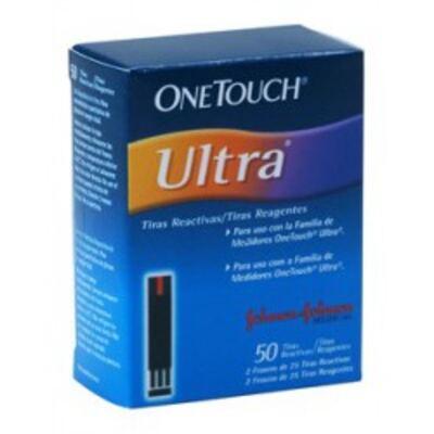 Imagem 1 do produto Tiras One Touch Ultra Johnson's com 50 Unidades
