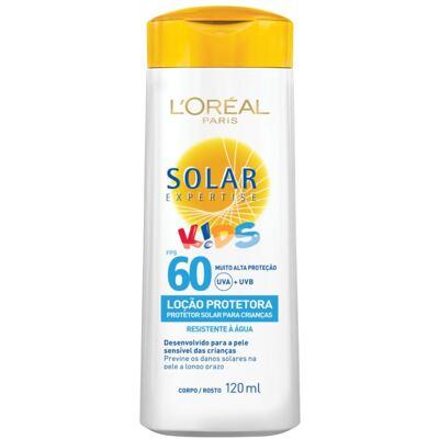 Protetor Solar L'Oréal Expertise Loção Kids FPS 60 120ml