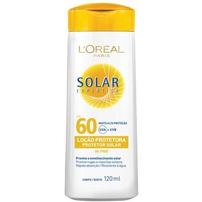 Imagem 1 do produto Protetor Solar L'Oréal Expertise FPS 60 120ml