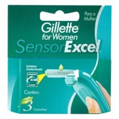 Carga Gillette Sensor Excel Feminino C/3 unidades