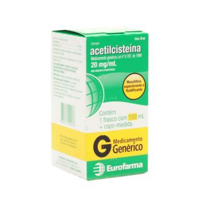 Acetilcisteína Xarope Genérico Eurofarma - 20mg | 150ml