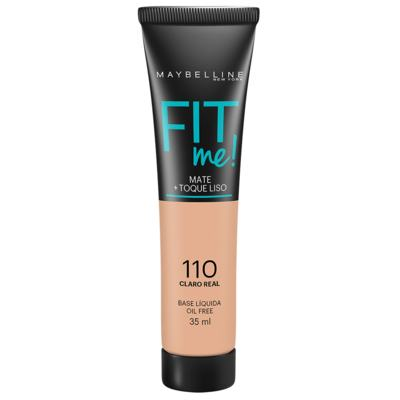 Base Líquida Maybelline Fit Me! Oil Free 110 Claro Real 35ml