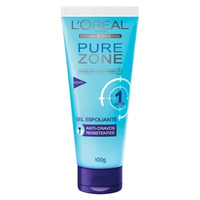 Gel Esfoliante Pure Zone Anti-Cravos – 100g - L'Oréal
