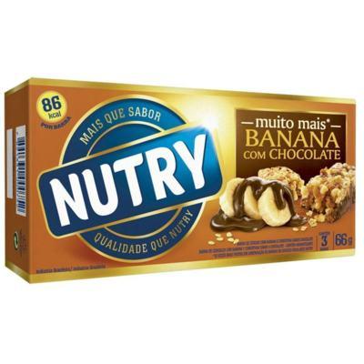 Barra de Cereal Nutry Frutas Banana com Chocolate 20g 3 Unidades