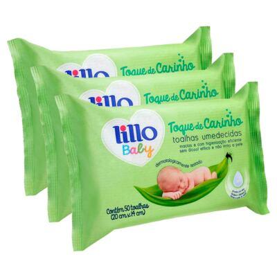 Kit Toalhas Umedecidas Lillo Baby 150 Unidades