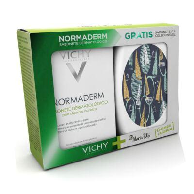 Imagem 1 do produto Kit Vichy Sabonete Normaderm 80g Grátis Saboneteira