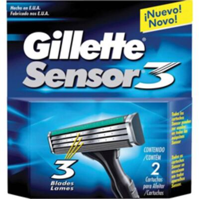 Imagem 1 do produto Carga Gillette Sensor 3 - 2 Unidades