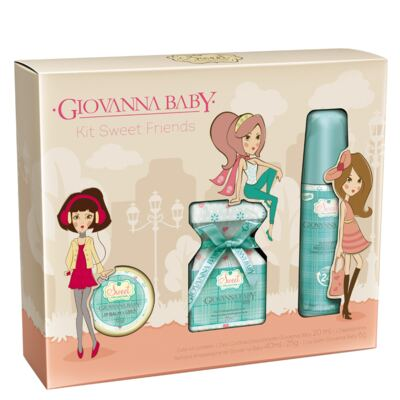 Imagem 1 do produto Kit Sweet Friends Candy Giovanna Baby - Perfume 20ml + Desodorante 40ml + Lip Balm 6g - Kit