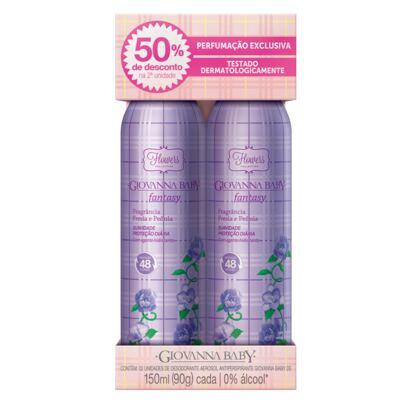 Imagem 1 do produto Flowers Collection Fantasy Desodorante Giovanna Baby - Desodorante Aerosol - 2x 150ml