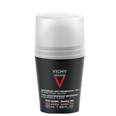Déodorant Roll-On 72H Vichy - Desodorante Roll-On para Peles Sensíveis 72H - 50ml