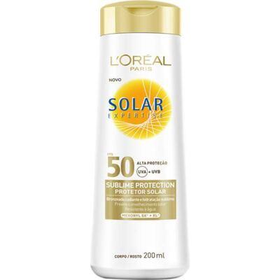 Protetor Solar L'Oréal Paris Solar Expertise Sublime Protection SPF 50 - 200ml