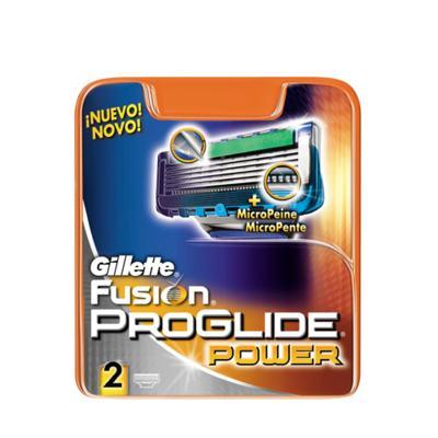 Imagem 1 do produto Gillete Fusion Proglide Power Recarga Gillette - Cartucho de Barbear - 2 Cargas
