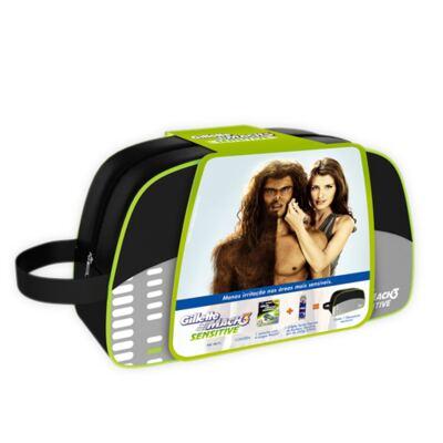 Imagem 2 do produto Kit Gillette Mach 3 Sensitive Gillette - Kit de Barbear - Kit