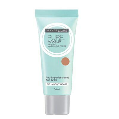 Pure Makeup Maybelline - Base Facial - Dourado
