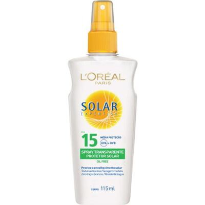 Protetor Solar L'Oréal Paris Solar Expertise Spray Transparente FPS 15 - 115ml