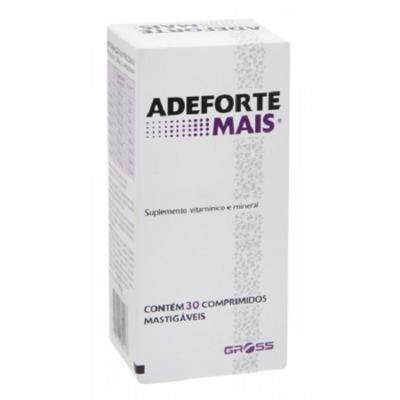 Imagem 1 do produto Adeforte Mais Suplemento Vitamínico 30 Comprimidos Mastigáveis