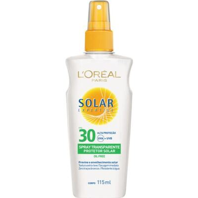Solar Expertise Spray Transparente FPS 30 L'oréal Paris - Protetor Solar - 115ml