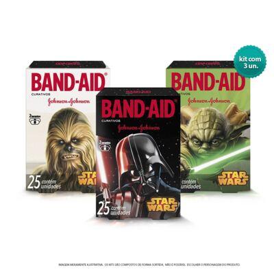 Curativo Band-Aid Star Wars Johnson´s 3 Caixas de 25 Unidades