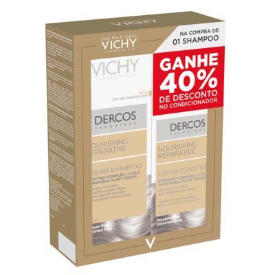 Imagem 1 do produto Dercos Nutri-Reparador Vichy - Kit Shampoo 200ml + Condicionador 150ml - Kit