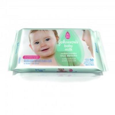 Lenço Umedecido Johnson´s Baby Milk  50 Unidades