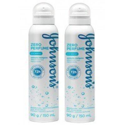 Desodorante Johnson´s Aerosol Zero Perfume 2 Unidades