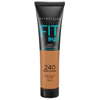 Maybelline Base Líquida Oil Free Fit Me! Cor 240 Médio Especial 35ml