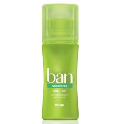 Desodorante Ban Roll On Unscented Sem Perfume 103ml