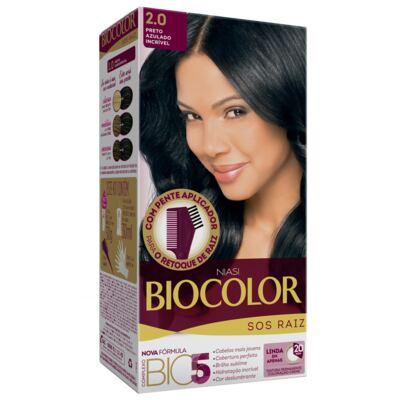 Imagem 1 do produto Kit Biocolor Tintura S.O.S Preto Azulado 2.0