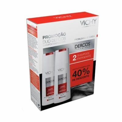 Imagem 1 do produto Shampoo Vichy Dercos Energizante 200ml 2 Unidades - Shampoo Vichy Dercos Energizante 200ml