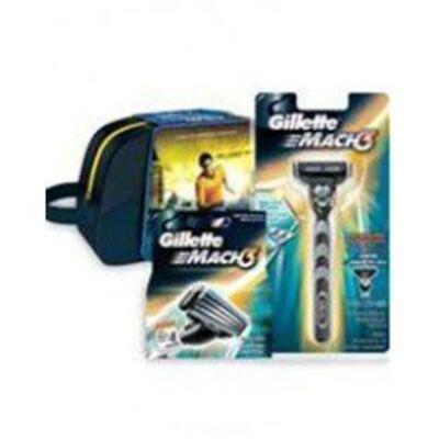 Imagem 1 do produto Kit Gillette Aparelho Mach 3 + Carga  4 Unidades Grátis Necessaire