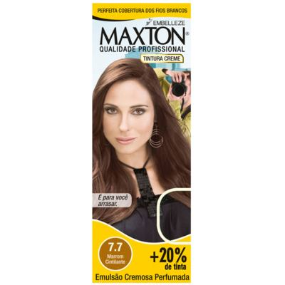 Kit Maxton Tintura Prático 7.7 Marrom