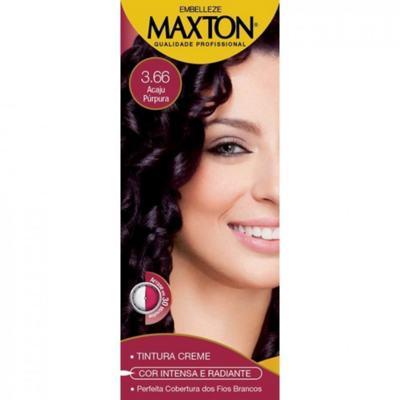 Kit Maxton Tintura Prático 3.66 Acaju Purpura