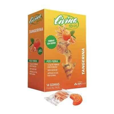 Imagem 1 do produto Livina Fibras Tangerina 14 Gomas