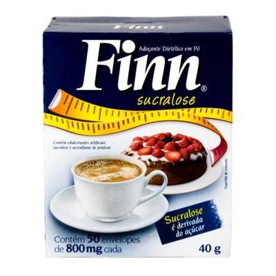 Adoçante em Pó Finn Sucralose 8g C/ 50 Envelopes