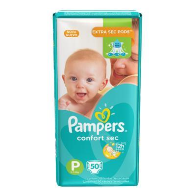 Imagem 1 do produto Fralda Pampers Confort Sec P 50 unidades -
