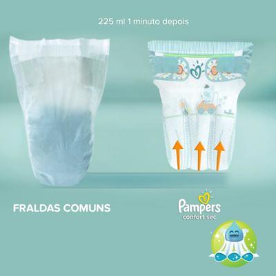 Imagem 3 do produto Fralda Pampers Confort Sec P 50 unidades -