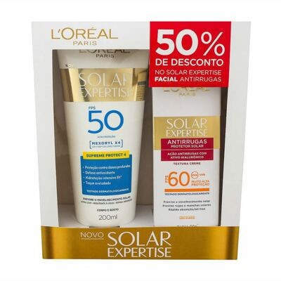 Imagem 1 do produto Kit L'Oréal Expertise Supreme Protetor Solar FPS 50 200ml + Protetor Facial FPS 60 50ml