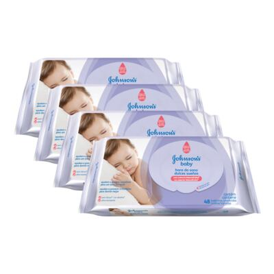 Imagem 1 do produto Kit 4 Lenço Umedecido Johnson´s Baby Hora Do Sono 198 Unidades