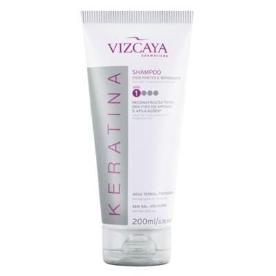 Imagem 6 do produto Shampoo Keratina Vizcaya 200ml + Condicionador Keratina Vizcaya 150ml